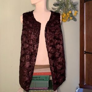 Soft faux fur brown vest